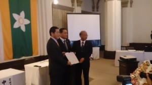ちぬや食品と愛媛県、西予市の調印式が行われました