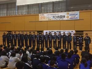 岡山シーガルズのバレーボール教室
